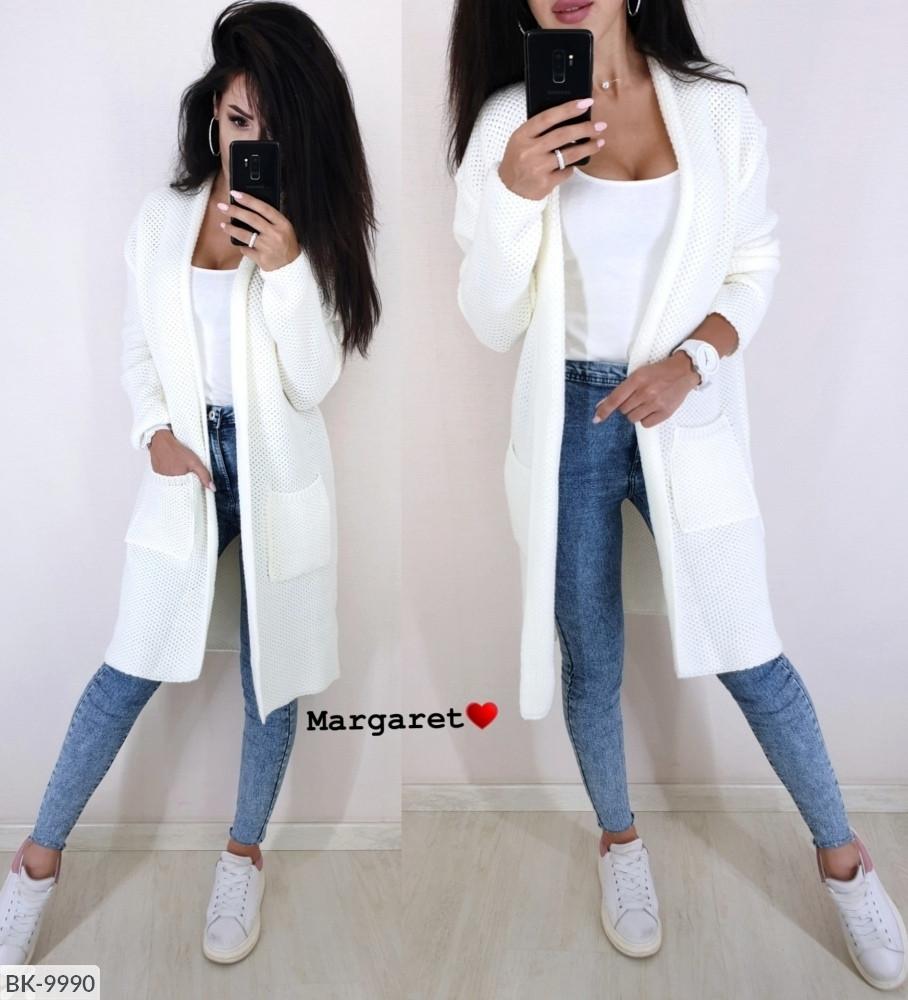 Кардиган жіночий модний молодіжний тепла в'язка арт 9987