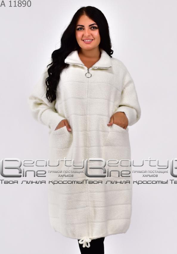 Пальто-кардиган из альпаки в большом размере Украина Размеры: 58-62 универсал