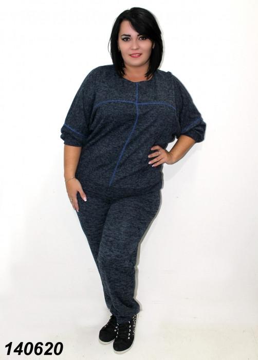 Женский   костюм большого размера темно-синий 50,52,54 56
