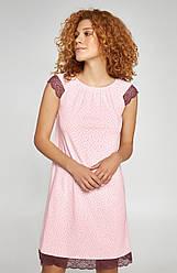 Ночная рубашка в горошек Merlot от Ellen с коротким рукавчиком.