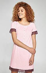 Ночная рубашка в горошек Merlot от Ellen на пуговицах.