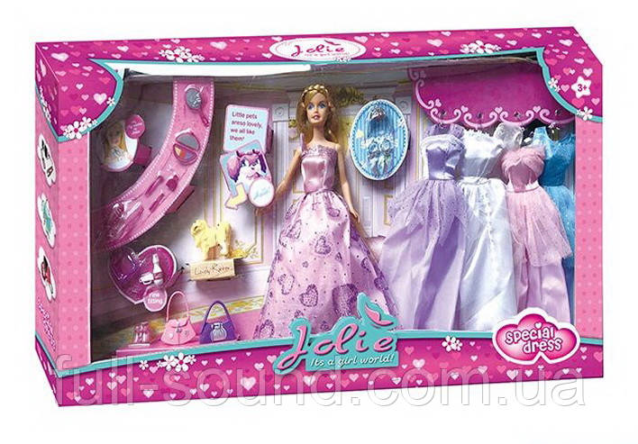 Кукла Jolie с нарядами и аксессуарами 369