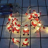 Новорічна гірлянда у стилі Санта Клауса, фото 3