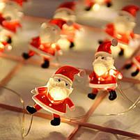 Новорічна гірлянда у стилі Санта Клауса, фото 2