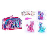 Игравой набор Пони две фигурки,зеркалце,расческа, Фигурки,Детские игрушки