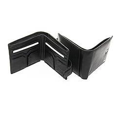Кошелек мужской кожаный черный стильный DR. BOND M59-1