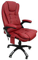 Офисное кресло операторское для персонала с массажем Bonro 8025 кресло руководителя для офиса бордовое