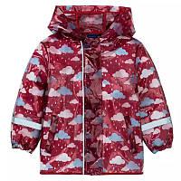Куртка дождевик грязепруф lupilu ветровка красная 86-92
