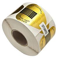 Формы для Наращивания Ногтей Одноразовые Прямоугольные Золотые 500 шт, Материалы для Наращивания Ногтей