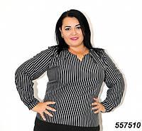 Женская блуза большого размера в полоску 54р