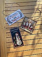 Новогодняя табличка с принтом Снеговика, фото 3