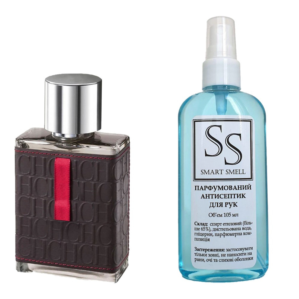 Антисептик с парфюмом 105 мл Carolina Herrera, CH Men (СН Мэн)