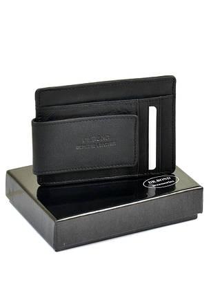 Затиск для грошей магнітний чоловічий шкіряний чорний модний Dr.Bond MZS-2, фото 2
