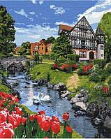 Розпис по номерам на полотні Чарівний пейзаж Бельгія 40 на 50 см на підрамнику