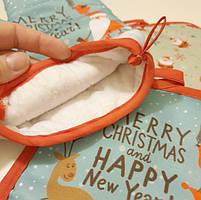 Новогодняя кухонная рукавица + прихватка, фото 7