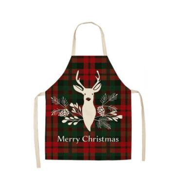 Новогодний кухонный фартук с принтом Merry Christmas