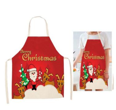 Новорічний кухонний фартух з принтом Merry Christmas