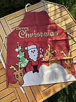 Новорічний кухонний фартух з принтом Merry Christmas, фото 2