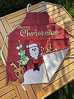 Новорічний кухонний фартух з принтом Merry Christmas, фото 3