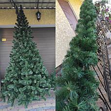 Елка искусственная 2.2м зеленая новогодняя ель праздничная пвх, фото 3