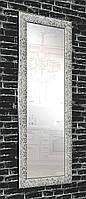 Зеркало в раме на стену для дома офиса салона настенное Graphite beehive 60х174 см графит