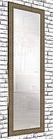 Зеркало настенное в пластиковой рамке для дома салона офис на стену в прихожую Gold tetris 60х174 см золото