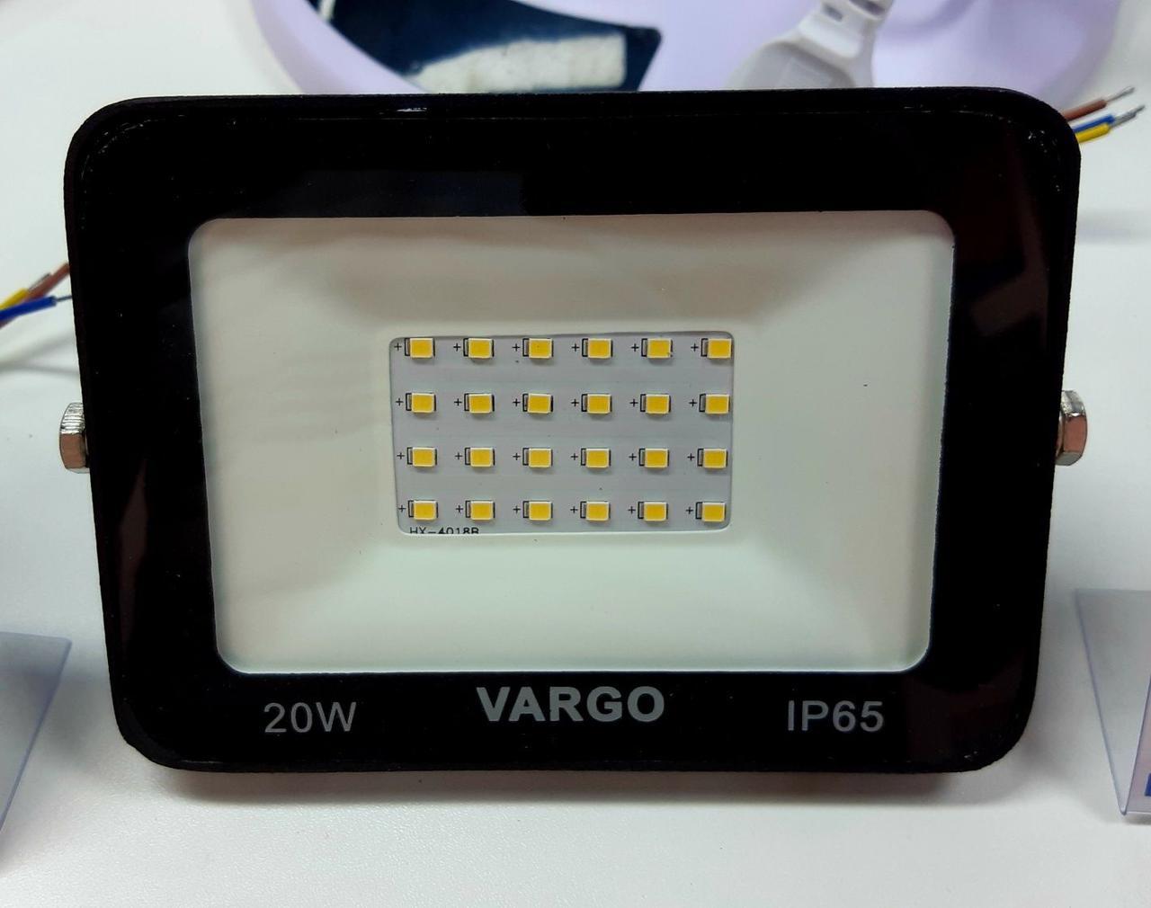 20W 220V 1800lm 6500K LED прожектор VARGO (V-330144)
