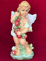 Статуэтка фигурка гипсовая Ангел яблоко, цветной, 50 см