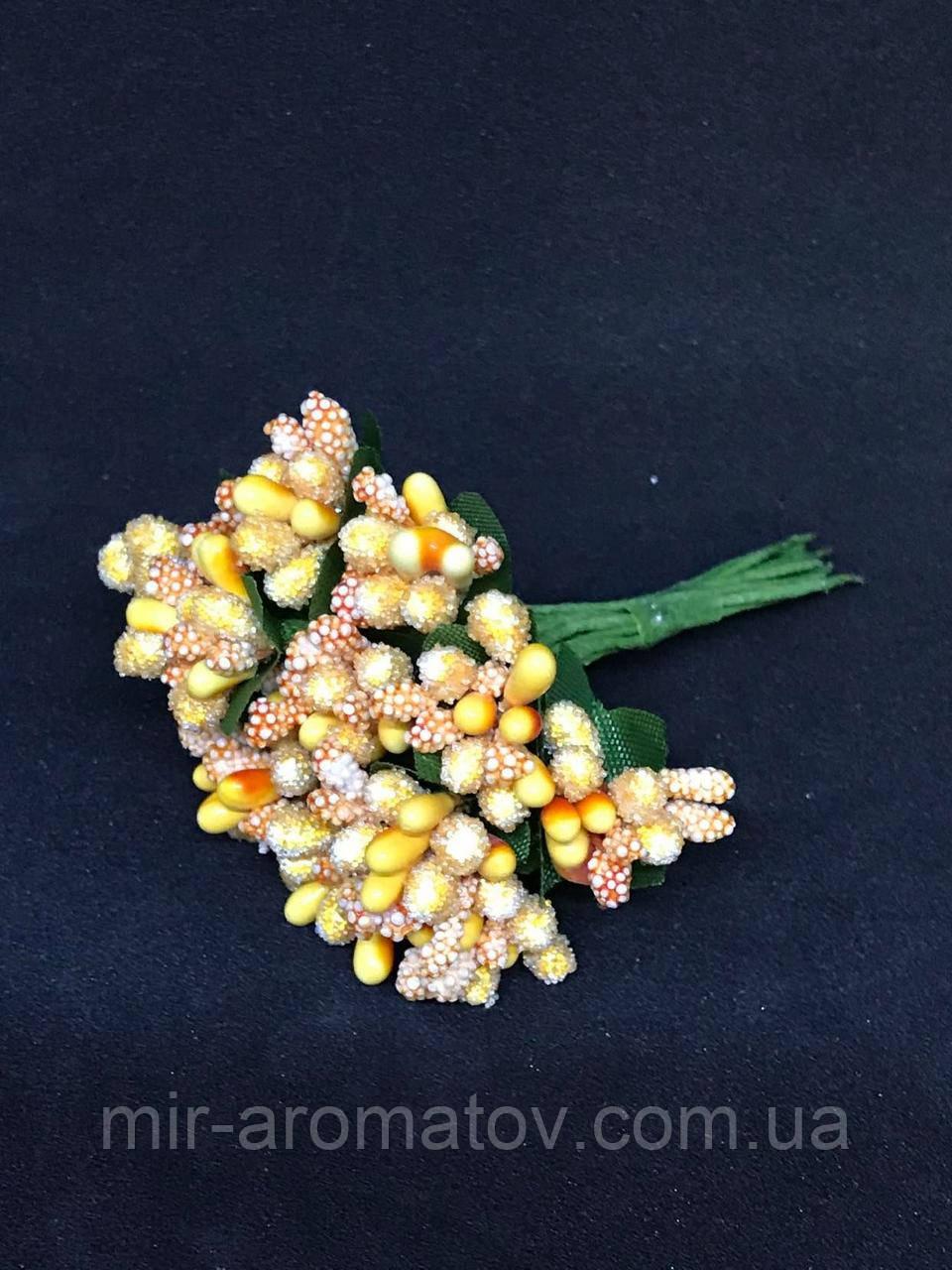 №115  Добавка ягодок 12пучков по 12шт (144веточки)  желтая