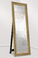 Зеркало напольное в раме на деревянной подставке в рост для дома салона офиса Grace golden 60х174 золото