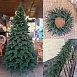 Элитная зеленая 2.1м литая елка искусственная ель литая, фото 2