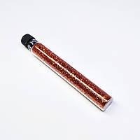 Блестки (песок) для украшения ногтей в пробирке Starlet Professional, Золото темное