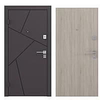 ВХОДНЫЕ ДВЕРИ уличные и квартирные BASIC-S BAS 002 внешняя накладка - металлический лист с прокатанным узором