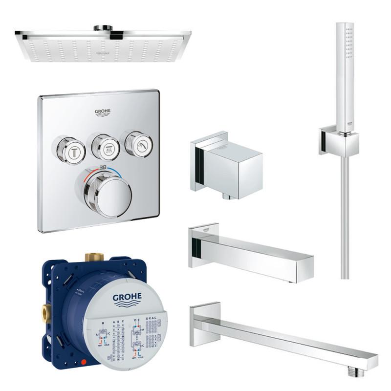 Набір для душу/ванни прихованого монтажу на 3 споживача Grohe SmartControl 34506SC2