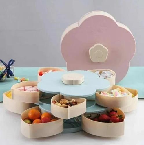 Тарелка для закусок, фруктов и сладкого.Вращающаяся тарелка-органайзер 10 секций