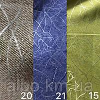 Щільна шторна тканина льон блекаут з ефектом битого скла, висота 2.8 м на метраж (M17), фото 3