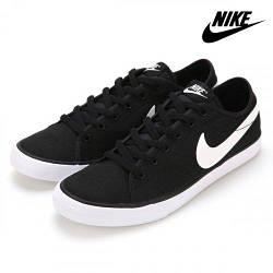 Кеды Nike Primo Court Canvas Black White 631635-010 Черные мужские