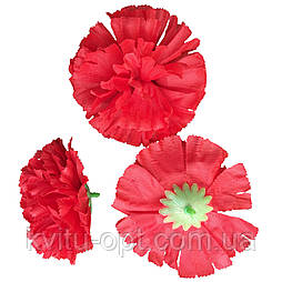 Головка Гвоздика красная, 10 см  (по 250 шт. в уп)