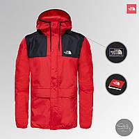 Куртка мужская The North Face весна/осень, водоотталкивающая и ветрозащитная ветровка TNF красного цвета