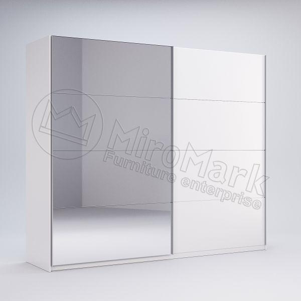 Шкаф-купе Фемели 2.5 Миро-Марк двери глянец белый/зеркало