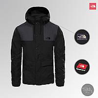 Куртка мужская The North Face весна/осень, водоотталкивающая и ветрозащитная ветровка TNF черного цвета