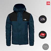 Куртка мужская The North Face весна/осень, водоотталкивающая и ветрозащитная ветровка TNF синего цвета