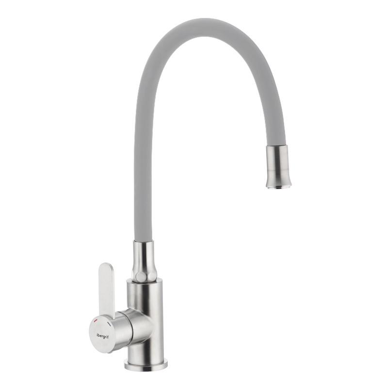 Смеситель для кухни с гибким силиконовым изливом IBERGRIF M22119-9 (IB0065)