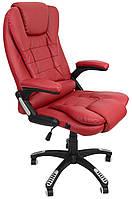 Офисное кресло операторское для персонала Bonro 8025 кресло руководителя для офиса компьютерное бордовое
