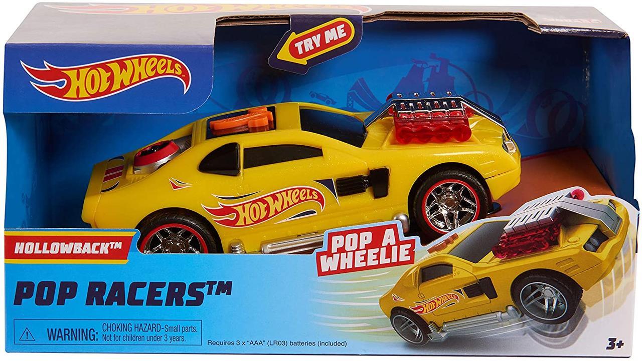Машинка Хот Вилз свет, звук, движение 18 см. Hot Wheels Poppin Wheelie Cars Hollowback, Оригинал из США