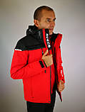 Мужская горнолыжная куртка красная, фото 5