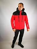 Мужская горнолыжная куртка красная, фото 6