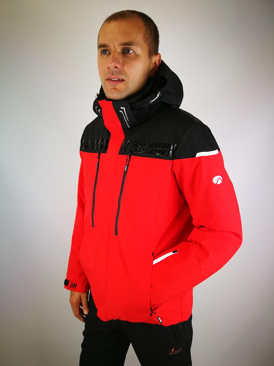 Мужская горнолыжная куртка красная