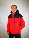 Мужская горнолыжная куртка красная, фото 2