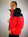 Мужская горнолыжная куртка красная, фото 7